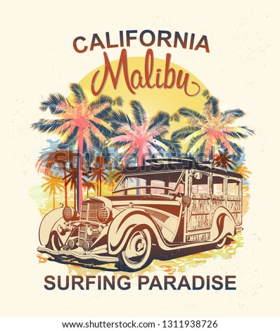 malibu typography for t shirt