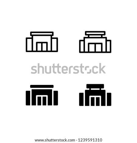Mall Icon Logo Vector Symbol. Supermarket Icon