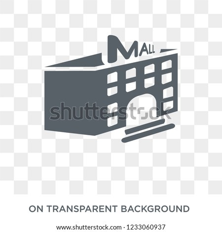 Mall icon. Mall design concept from Entertainment collection. Simple element vector illustration on transparent background.