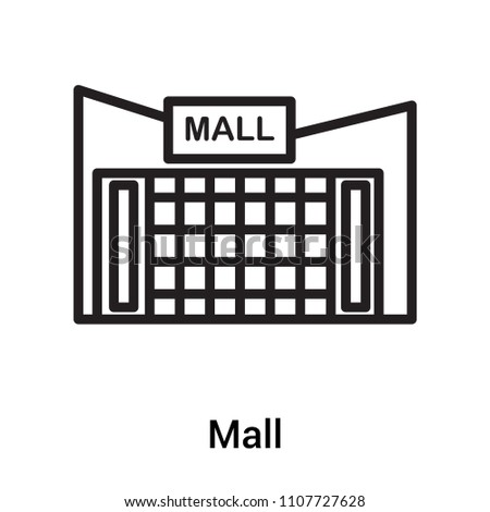 Mall icon vector isolated on white background for your web and mobile app design, Mall logo concept
