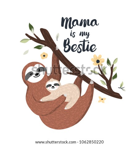 mama is my bestie cute mother
