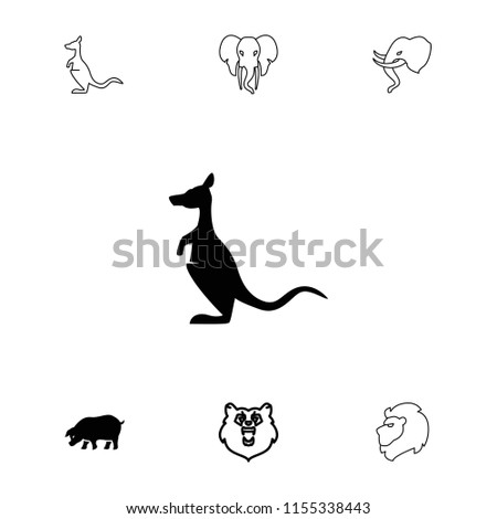 mammal icon. collection of 7...
