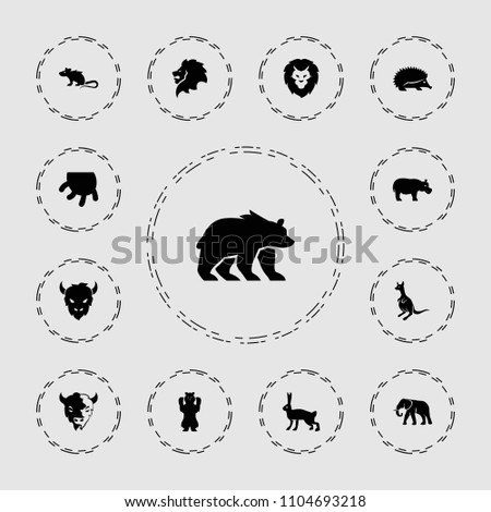 mammal icon. collection of 13...