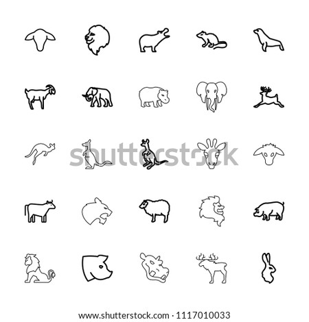 mammal icon. collection of 25...