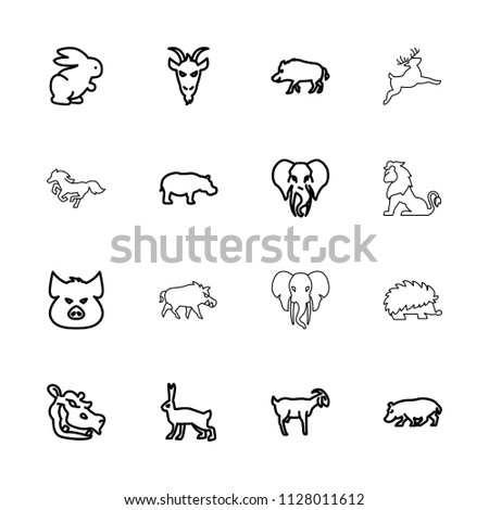 mammal icon. collection of 16...