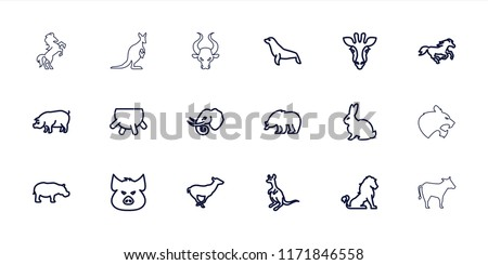 mammal icon. collection of 18...