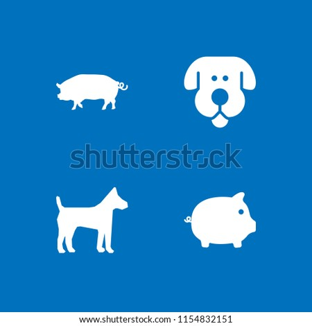 mammal icon. 4 mammal set with...
