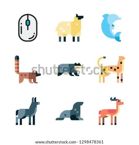 mammal icon set vector set