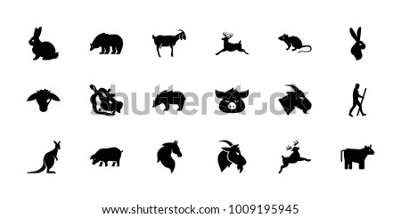 mammal icons. set of 18...