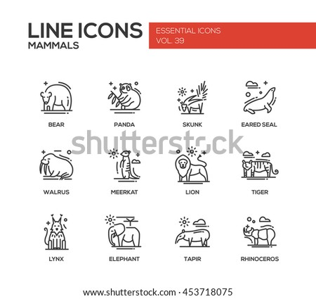 mammals   set of modern vector