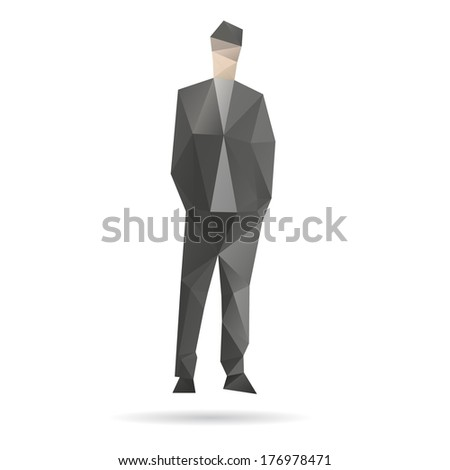 Man abstract isolated on a white backgrounds, vector illustration