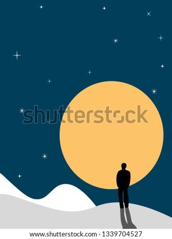 man against the moon