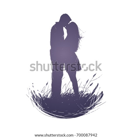 man and a woman with long hair