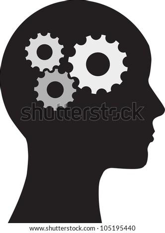Man and  brain - stock vector