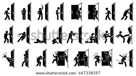 man and door pictogram