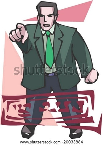 Man and Job Character with election : vector illustration