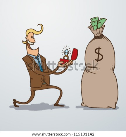 Man and money 02, vector