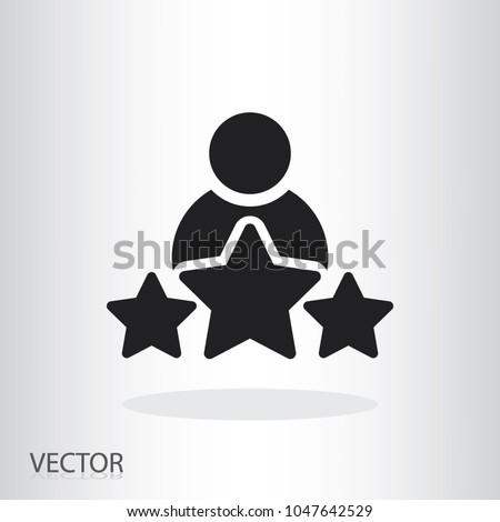 man and three stars icon