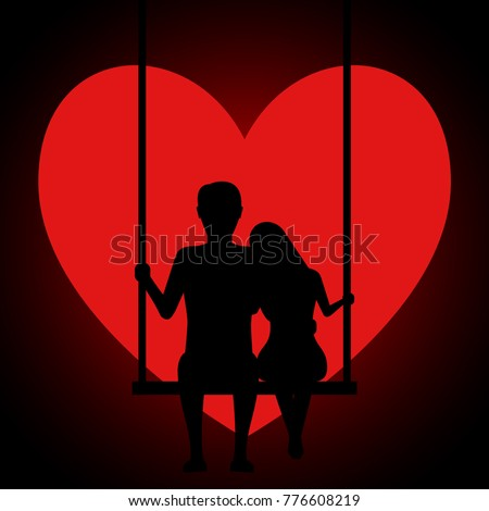 man and woman embracing sitting