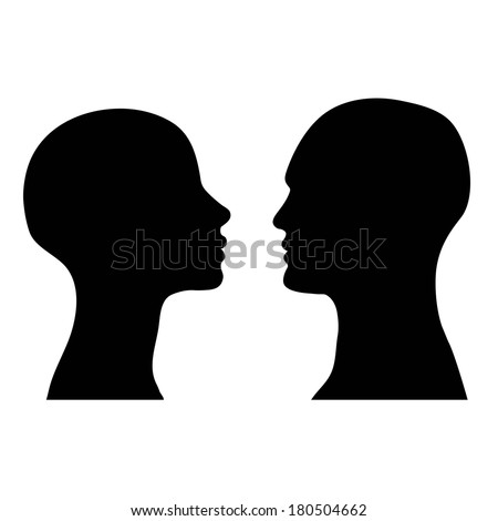 man and woman faces vector