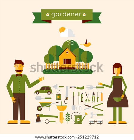 man and woman gardeners