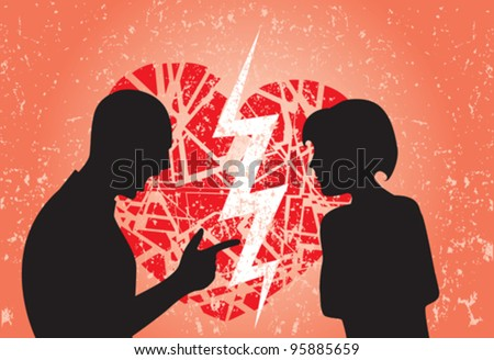 man and woman having break up