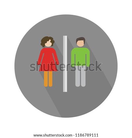 man and woman icon. bathroom, wc, restroom sign - toilet symbol