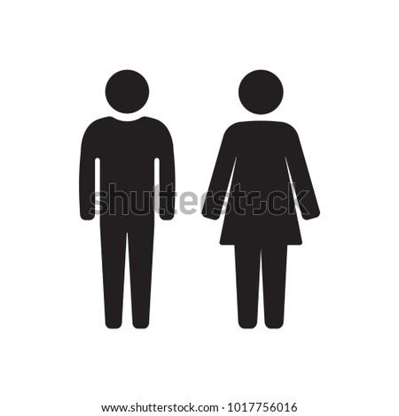 Man and Woman icon symbol vector