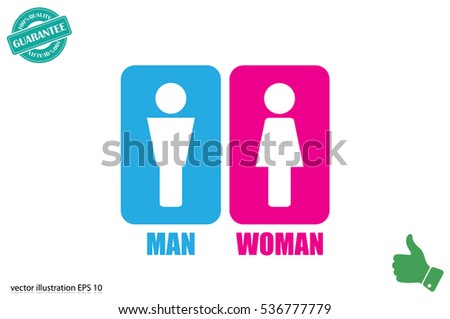 Man and Woman Icon Vector #536777779