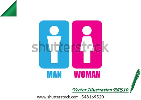 Man and Woman Icon Vector #548169520