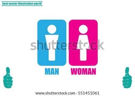 Man and Woman Icon Vector. #551451061