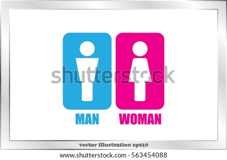 Man and Woman Icon Vector. #563454088