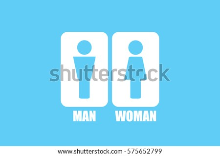 Man and Woman Icon Vector. #575652799