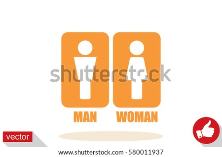 Man and Woman Icon Vector #580011937