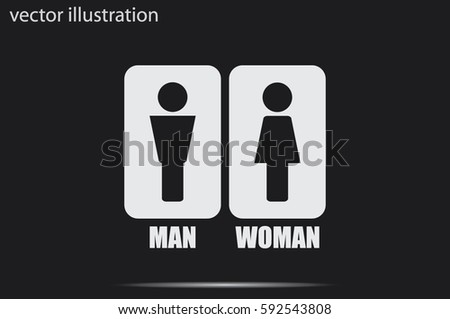 Man and Woman Icon Vector #592543808