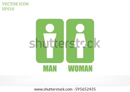 Man and Woman Icon Vector. #595652435