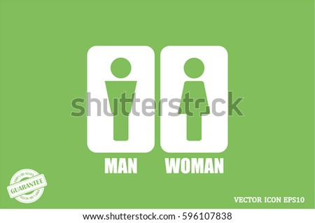 Man and Woman Icon Vector #596107838