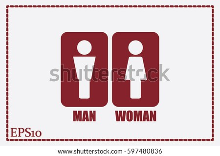 Man and Woman Icon Vector #597480836