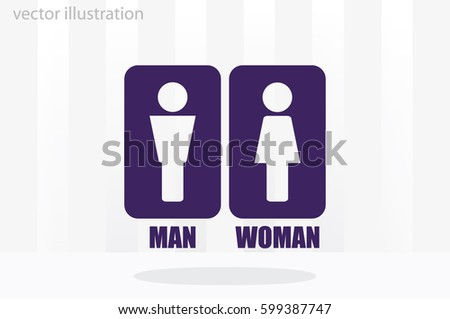 Man and Woman Icon Vector #599387747