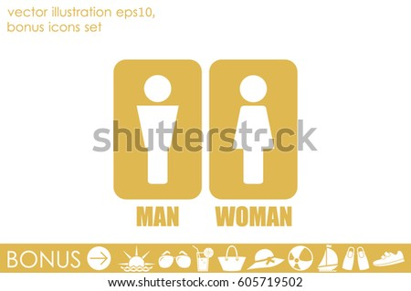 Man and Woman Icon Vector #605719502