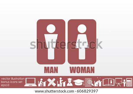 Man and Woman Icon Vector #606829397
