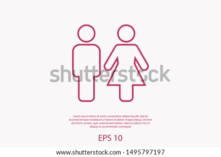 Man and woman icon vector illustration