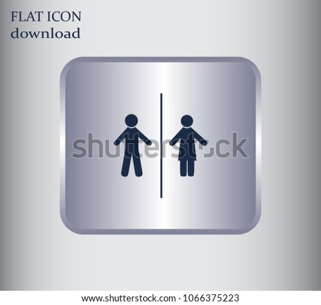 Man and Woman icon with shadow #1066375223