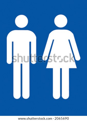 man and woman icons in blue