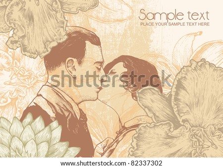 man and woman kissing and