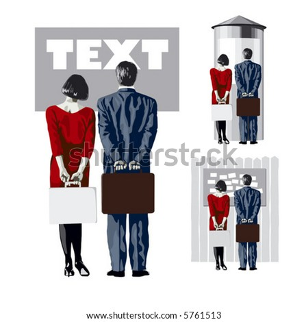 man and woman look at the