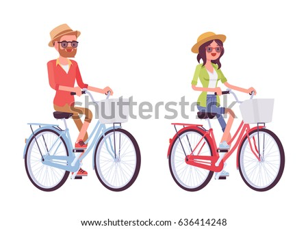 man and woman riding a city