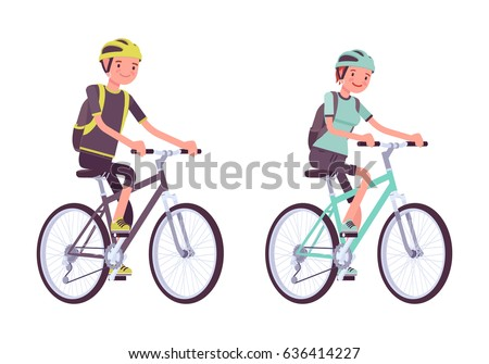 man and woman riding sport
