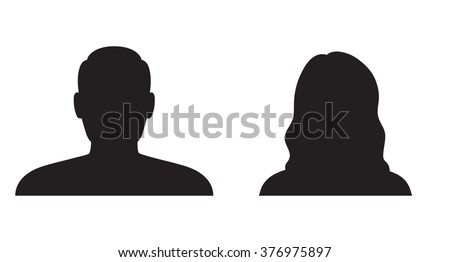Man and woman silhouette #376975897