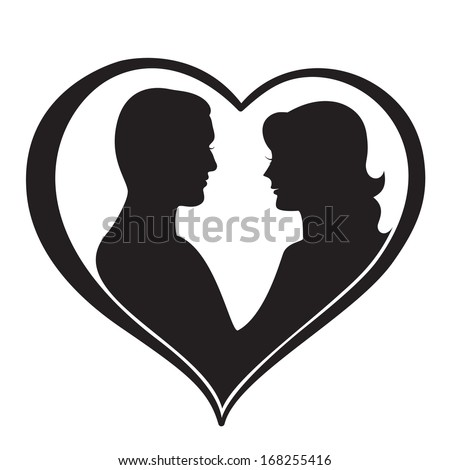 man and woman silhouette in